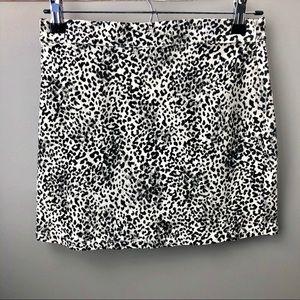 Black & White Cheetah Print Skirt